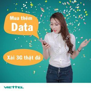 Cách mua thêm dung lượng 3G Viettel tốc độ cao