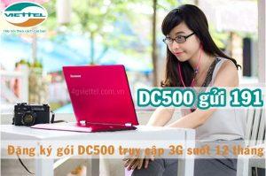 Đăng ký gói cước DC500 mạng Viettel