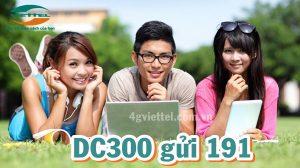 Đăng ký gói DC300 Viettel ưu đãi 4GB/ tháng
