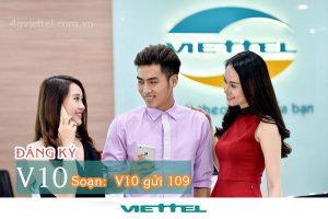 Đăng ký gói V10 Viettel nhận ngay 39 phút gọi thoại miễn phí