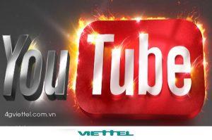 Đăng ký các gói 4G Youtube mạng Viettel