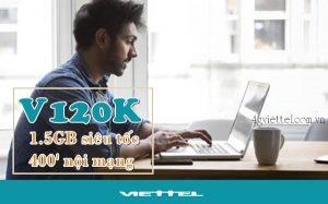 Đăng ký gói V120K mạng Viettel